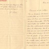 Lettre de Hertz à Poincaré en 1890
