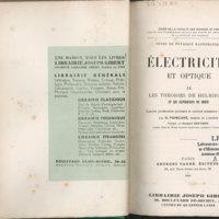 Cours de Physique mathématique : Electricité et Optique