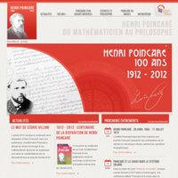 """Le site internet """"Henri Poincaré"""", actif de 2012 à 2015"""