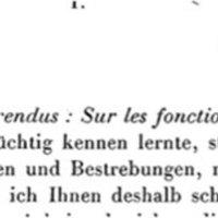 Courrier de Félix Klein à Poincaré en 1881