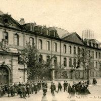 Le lycée Poincaré, ancien Lycée National vers 1900