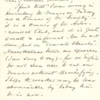 Invitation de George Darwin
