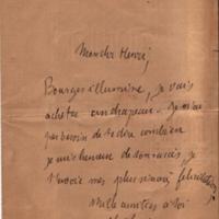 Courrier de Lucien à Henri Poincaré, 31 décembre 1887