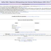 Répertoire Bibliographique des Sciences Mathématiques (1894-1912) RBSM