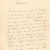 Courrier de Charles Hermite à Poincaré en 1881