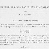 Mémoire sur les fonctions fuchsiennes