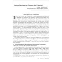Les recherches sur l'œuvre de Poincaré