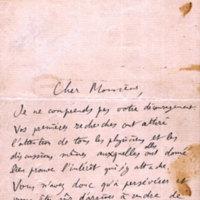 Lettre de Poincaré à Crémieu, vers 1902